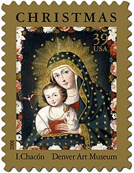 traditional christmas stamp 2006 for the us postal service