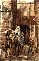 Josef Seeking Lodging in Bethlehem, by J.J. Tissot
