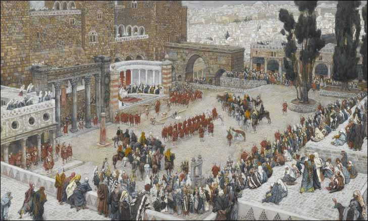 Tissot, Bird's-Eye View of the Forum, Jesus Hears His Death Sentence