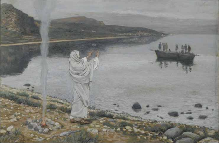 Tissot, Jesus Christ Appears on the Shore of Lake Tiberias