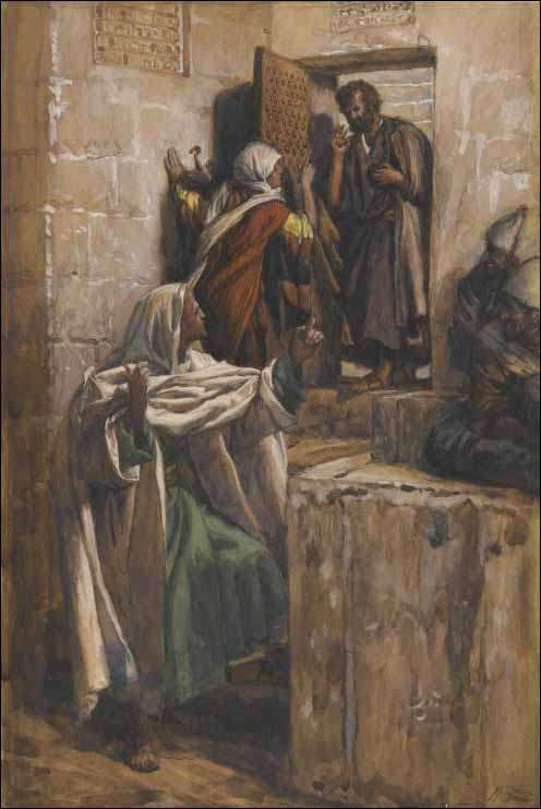 Tissot, Peter's First Denial of Jesus