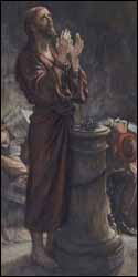 James J. Tissot, 'Friday Morning: Jesus Bound in Prison' (1896), Brooklyn Museum, watercolor.