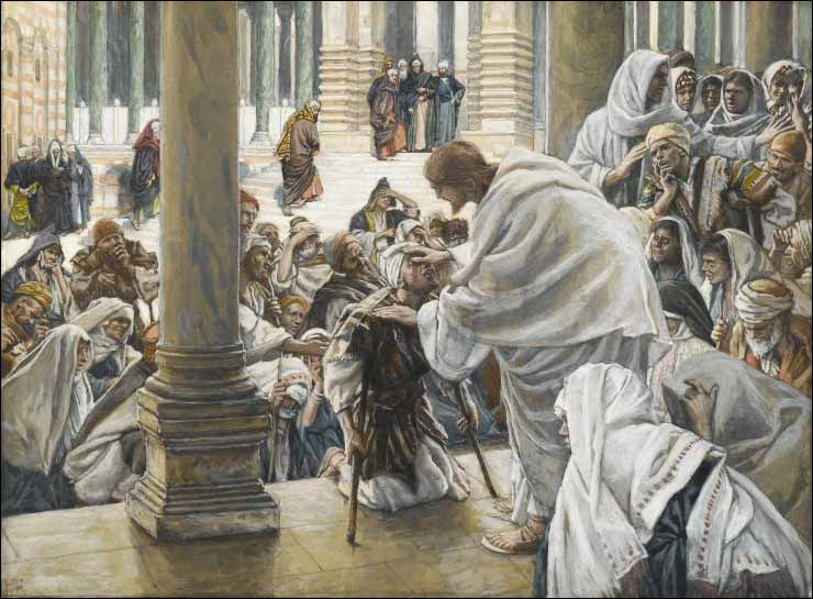 Tissot, Jesus Heals the Lame in the Temple