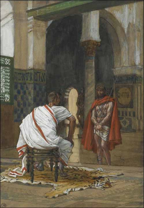 Tissot, Jesus Appears before Pilate for the Second Interview