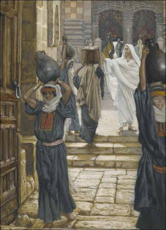 Tissot, Jesus Forbids Carrying of Loads in the Forecourt of the Temple