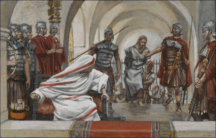Tissot, Jesus Is Led Back from Herod to Pilate