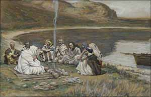 James J. Tissot, 'Meal of Our Lord and the Apostles' (1884-1896), watercolor, Brooklyn Museum