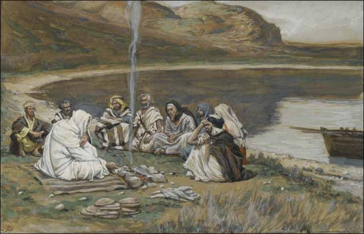 Tissot, Jesus Eats Breakfast with His Disciples