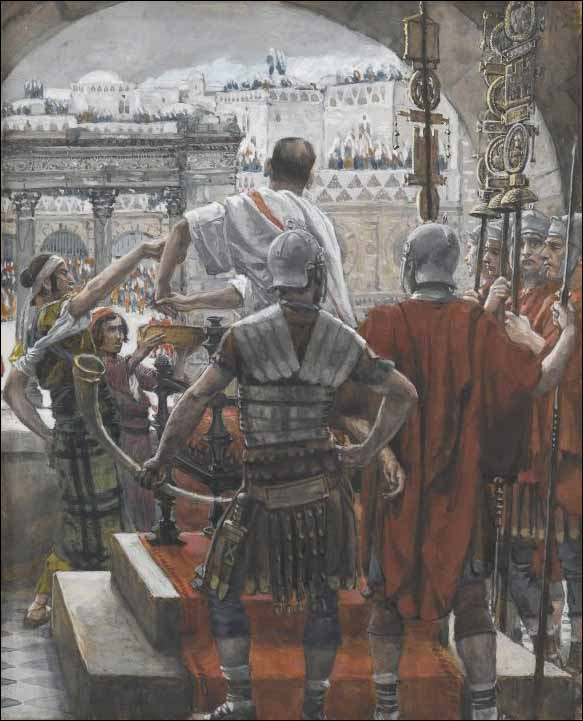 Tissot, Pilate Washes His Hands