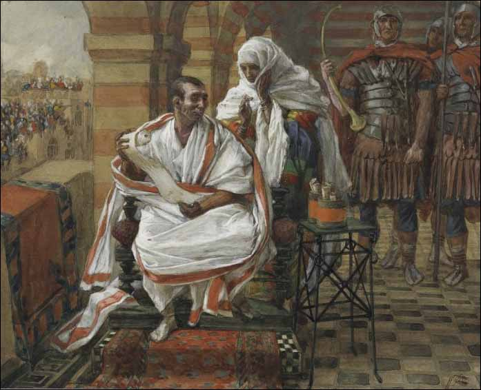 Tissot, Pilate's Wife Warns Him of a Dream