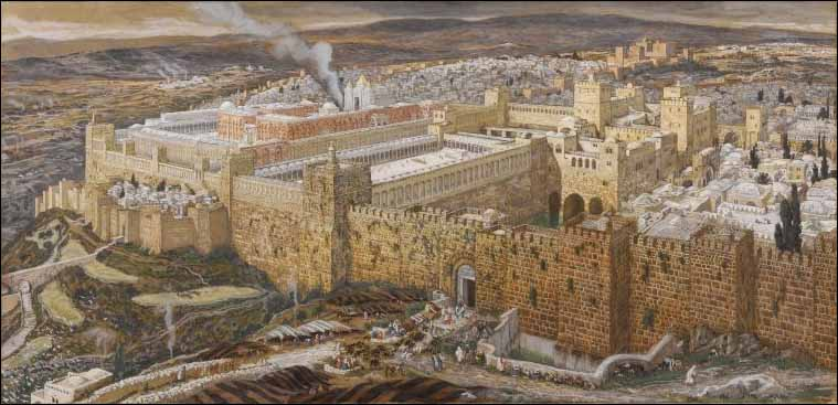 Tissot, Reconstruction of Jerusalem and Herod's Temple