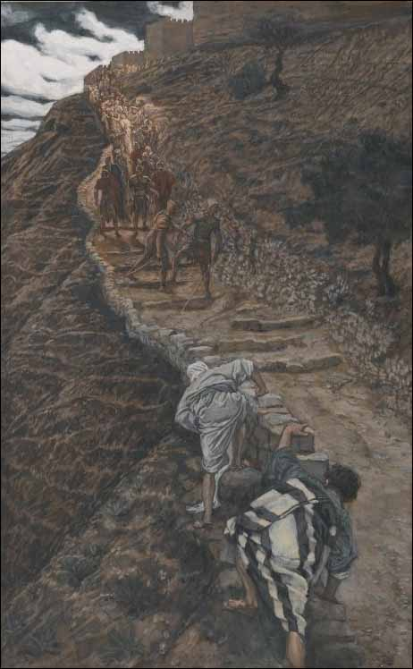 Tissot, Saint Peter and Saint John Follow from Afar