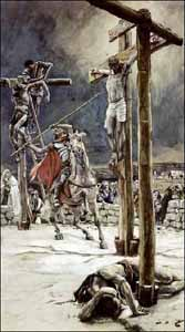 James J. Tissot, 'Soldier with Spear Pierces jesus in His Side' (1896), Brooklyn Museum, watercolor.