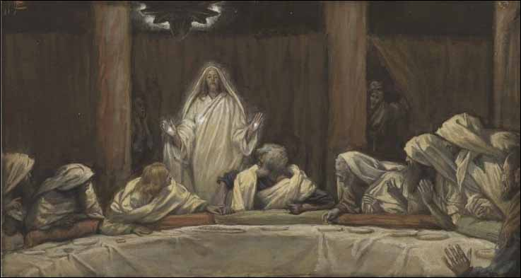 Tissot, The Appearance of Christ in the Upper Room