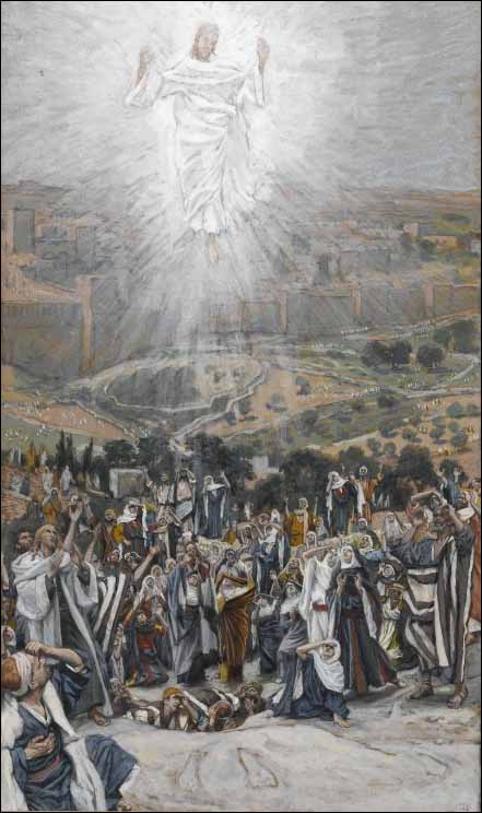 Tissot, The Ascension from the Mount of Olives