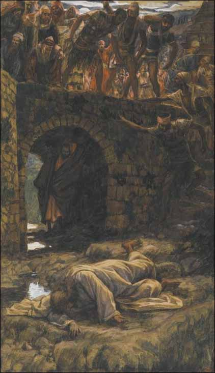 Tissot, The Bridge over the Brook of Kidron (Psalm 110:7)