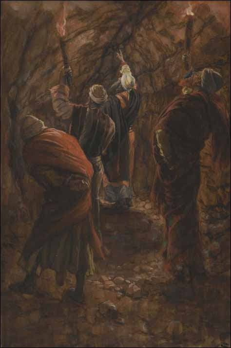 The Chasm in the Rock in the Cave beneath Calvary
