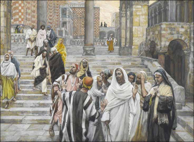 Tissot, The Disciples Admire the Buildings of the Temple