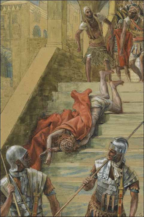 Tissot, Jesus Falls on the Holy Stairs