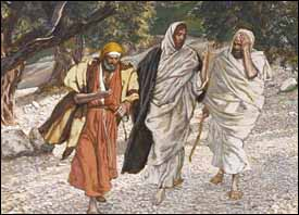 James Tissot, detail from 'Pilgrims on the Road to Emmaus' (1884-1896)