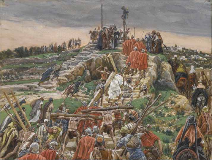 Tissot, The Procession Nears Calvary
