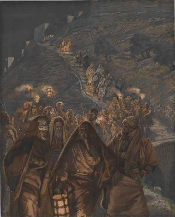 Tissot, Judas Approaches with a Large Crowd