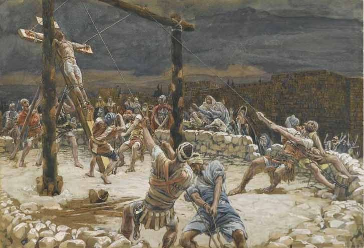Tissot, The Raising of the Cross