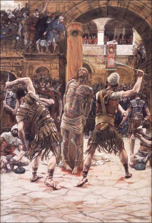 Tissot, Jesus Is Scourged on the Front