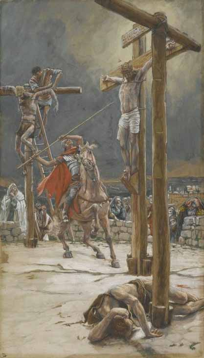 Tissot, A Soldier Pierces Jesus in His Side with a Spear
