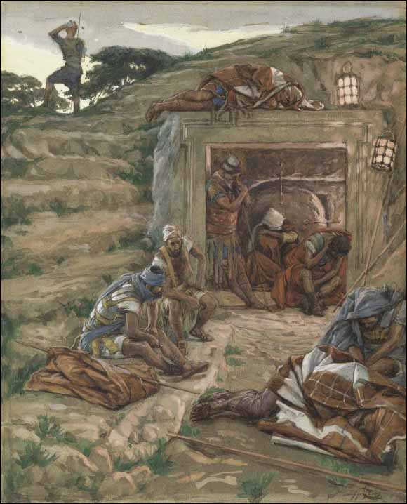 Tissot, Roman Guards Watch over the Tomb