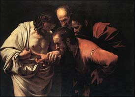 Caravaggio, The Incredulity of St. Thomas (1601-02)
