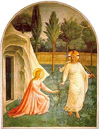 Fra Angelico, Jesus Appearing to the Magdalene, Noli me tangre (1440-41)
