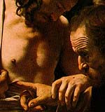 Doubting of Thomas by Caravagio
