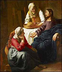 Johannes Vermeer, 'Christ in the House of Martha and Mary' (1655), Scottish National Gallery, Edinburgh, oil on canvas, 63 in. x 56 in.