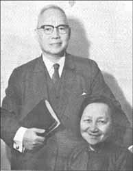 Dr. Leland and Ada Wang Zai, author of 'No Bible, No Breakfast' (1898-1975).