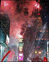 Confetti in Times Square at New Years