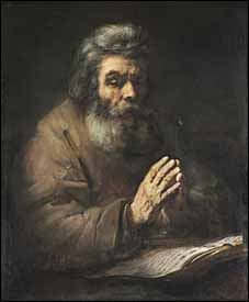 'An Elderly Man in Prayer' (1660s or later), attributed to a follower of Rembrandt