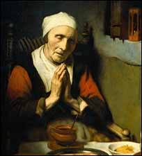 "Nicholas Maes, ""Old Woman at Prayer"" (1656)"