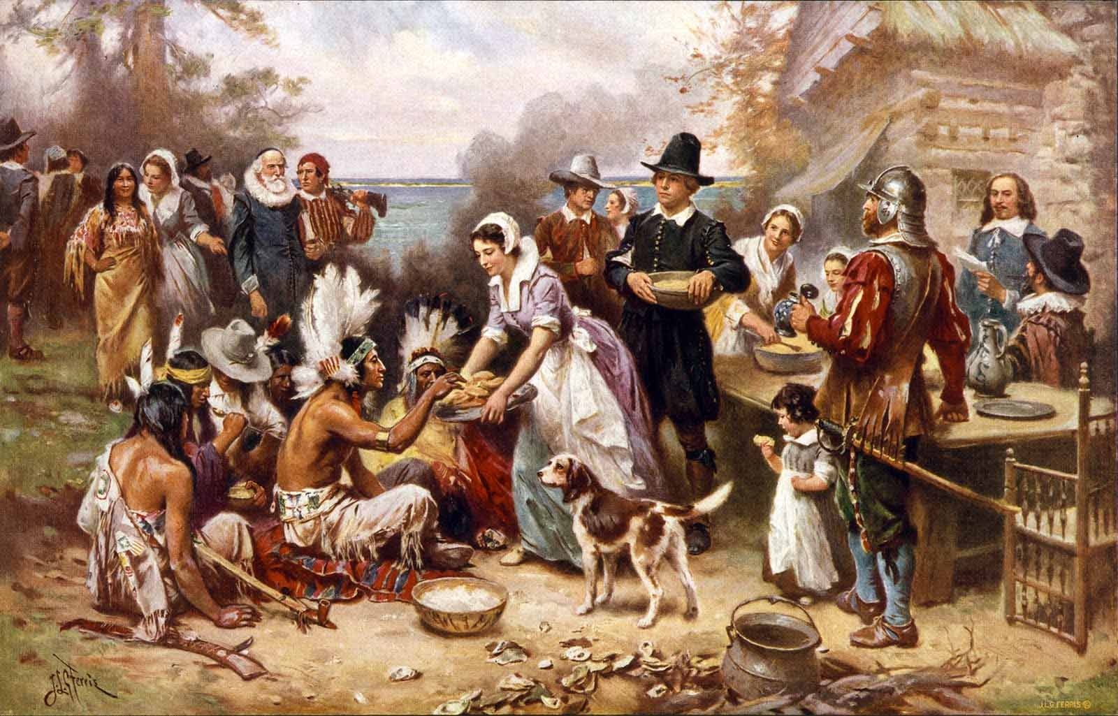 thanksgiving pilgrim wallpaper