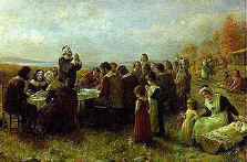 Jennie A. Brownescombe (1850-1936), The First Thanksgiving (1914)